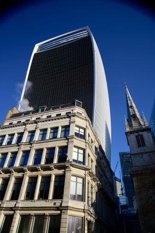 The Walkie Talkie looms over the city