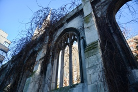 The ruins of St Dunstan-in-the-East in the City of London