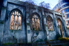 The ruins of St Dunstan-in-the-East
