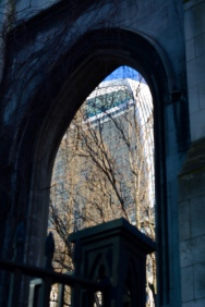 Walkie Talkie seen from St Dunstan-in-the-East