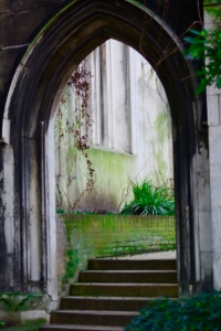 The ruins of St Dunstan-in-the-East, City of London