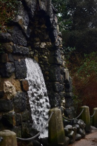 The waterfall at Chiswick House.
